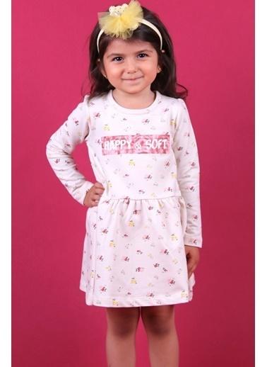 Breeze Kız Bebek Elbise Çiçekli Krem (1-3 Yaş) Krem